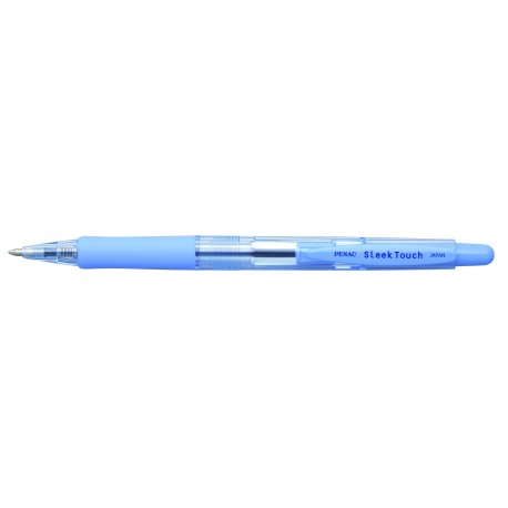 Pix PENAC Sleek Touch, rubber grip, 1.0mm, accesorii albastru pastel - scriere albastra