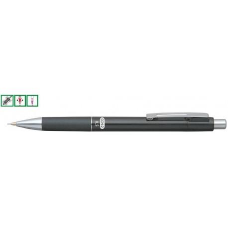 Creion mecanic rubber grip 0,7mm, con si varf metalic, PENAC CCH-2 - negru