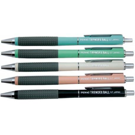Pix cu rubber grip, PENAC Trendex PENAC - culori asortate - scriere albastra