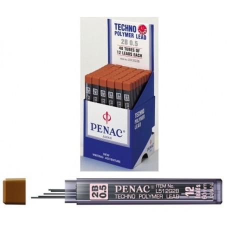 Mine pentru creion mecanic 0,3mm, 12/set, PENAC - 2B