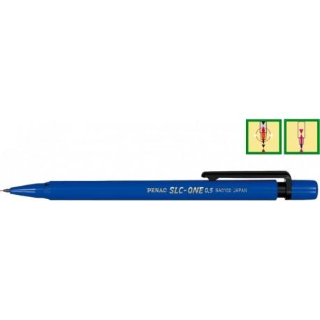 Creion mecanic din plastic, 0,5mm ,con si varf din plastic, PENAC SLC-One - corp albastru