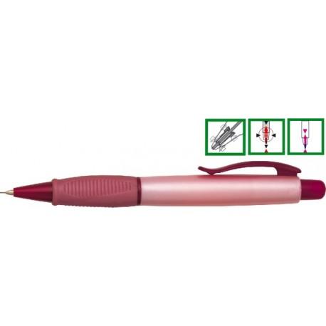 Creion mecanic rubber grip, 0,5mm, varf metalic, PENAC Beeans - corp rosu sidefat