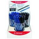 Display 72 creioane mecanice plastic PENAC Non-stop - asortate (36 x 0,5mm, 36 x 0,7mm)