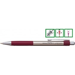 Creion mecanic metalic PENAC Pepe, rubber grip, 0.5mm, varf metalic - accesorii bordeaux