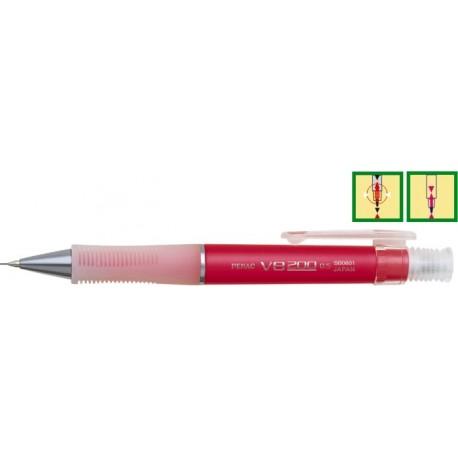 Creion mecanic PENAC V8 200 Flower ( 0,5mm ) - Rosu sidefat