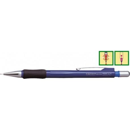 Creion mecanic profesional, 0,7mm, varf cilindric retractabil, PENAC UM 5037 - corp bleumarin