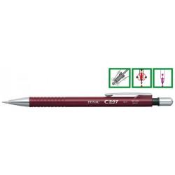 Creion mecanic PENAC C207, 0.7mm, con si accesorii metalice - corp bordeaux