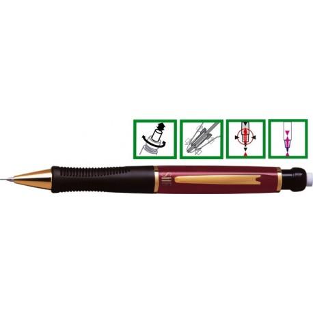 Creion mecanic de lux, 0,5mm, varf si accesorii metalice aurii, PENAC Sir Gold - rubin