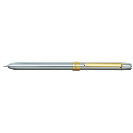 Pix multifunctional de lux PENAC Slim, 2 culori + creion mecanic 0.5mm, corp argintiu - accesorii AU