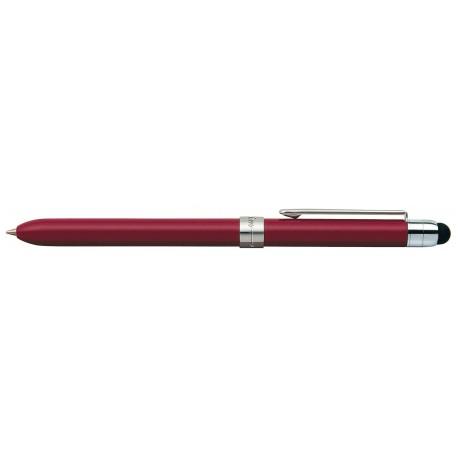 Pix multifunctional de lux, doua culori+creion mecanic 0.5mm, PENAC Slim - corp bordeaux - accesorii