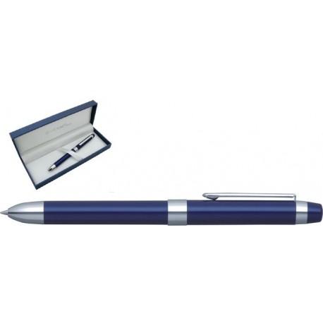 Pix multifunctional de lux PENAC Ele-P, doua culori + creion mecanic 0.5mm - bleumarin
