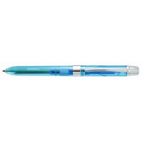 Pix multifunctional PENAC Ele-001, 2 culori + creion mecanic 0,5mm+2 radiere+mine 0,5 mm - bleu