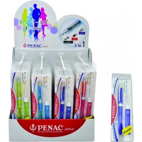 Display 24 pixuri multifunctionale PENAC ELE 001 + mine 0,5mm - asortate (6 x culoare)