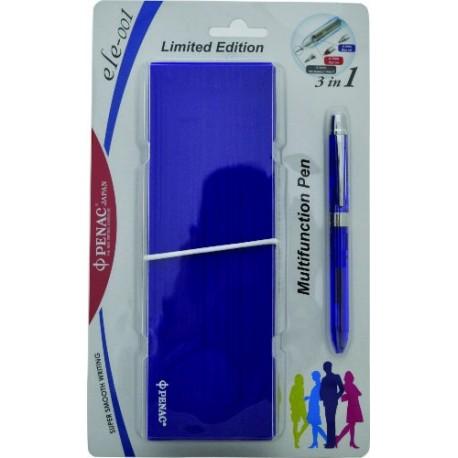 Pix multifunctional cu doua culori / creion mecanic 0.5mm, PENAC ELE 001 + penar cadou, mov