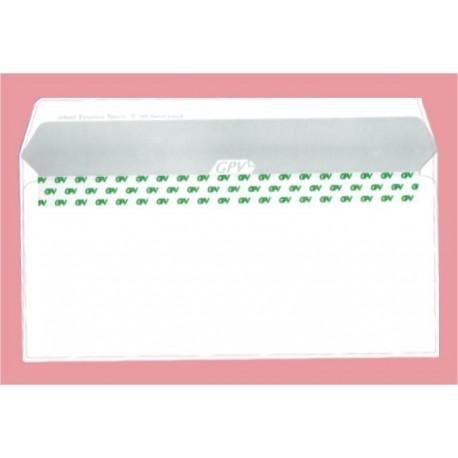 Plic DL alb siliconic cu fereastra dreapta ( 110 x 220 mm )