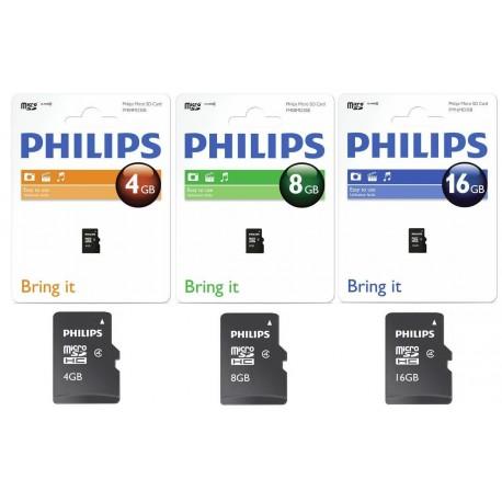 Card memorie Micro SD, clasa 4, PHILIPS - 8GB