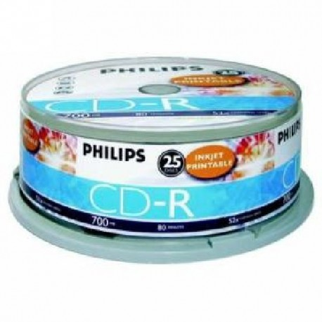 CD-R 700MB-80min ( 25 buc. Spindle, 52x) PHILIPS