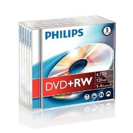 DVD-RW 4.7GB, Jewelcase, 2x, PHILIPS