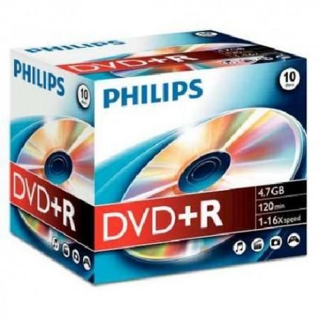 DVD+R 4.7GB Jewelcase, 16x, PHILIPS