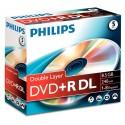 DVD+R 8.5GB Double layer 8x, Jewelcase, PHILIPS
