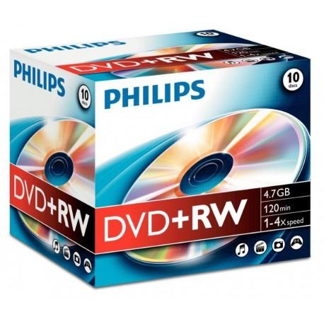 DVD+RW 4.7GB Jewelcase, 4x, PHILIPS