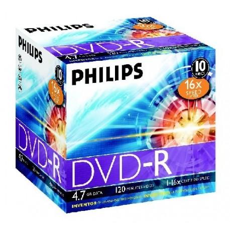 DVD-R 4.7GB Jewelcase, 16x, PHILIPS