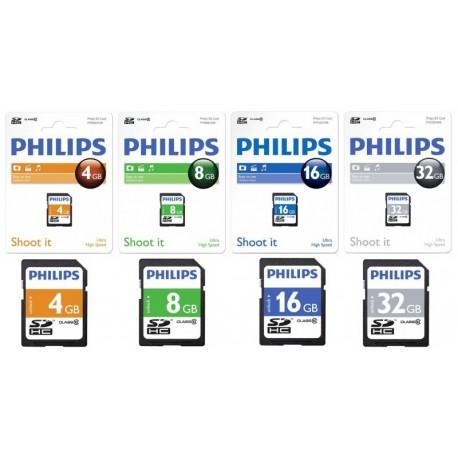 Card memorie SDHC, clasa 10, PHILIPS - 4GB