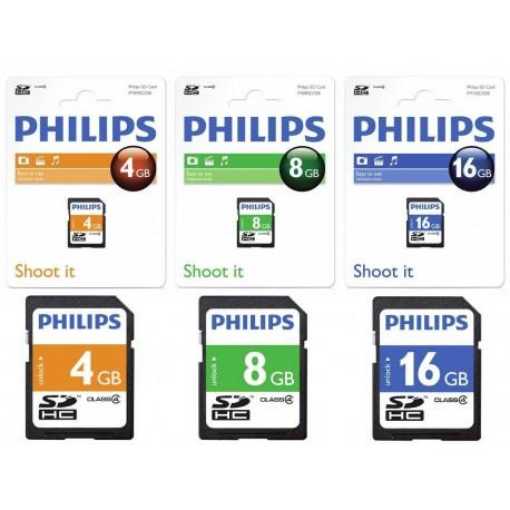 Card memorie SDHC, clasa 4, PHILIPS - 4GB