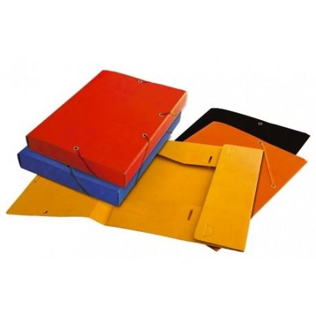 Mapa carton 400g/mp, cu elastic, 40mm latime, PUKKA - portocaliu