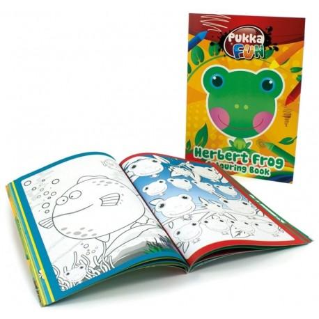 Carte colorat, A5, 24 file, 100g/mp, coperti carton, PUKKA Herbert Frog