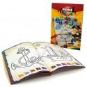 Carte colorat, A4, 24 file, 100g/mp, coperti carton, PUKKA Pirates Treasure Island