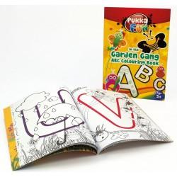 Carte colorat, A4, 24 file, 100g/mp, coperti carton, PUKKA In the Garden Gang ABC