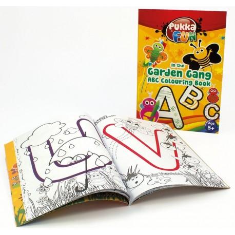Carte colorat, A5, 24 file, 100g/mp, coperti carton, PUKKA In the Garden Gang ABC