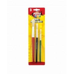 Set pensule pentru pictura, 3 buc/set, PUKKA Fan