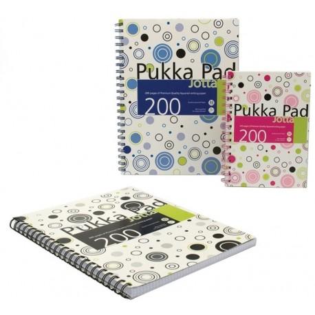Caiet cu spirala dubla A4, 100 file 80g/mp, coperti carton, PUKKA Confetti Jotta - matematica