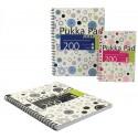Caiet cu spirala dubla A5, 100 file 80g/mp, coperti carton, PUKKA Confetti Jotta - dictando