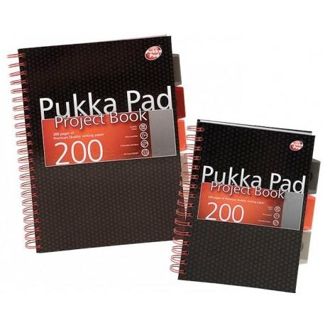 Project Book A4, 100 file 80g/mp, cu spirala dubla, coperti carton rigid, PUKKA City - dictando