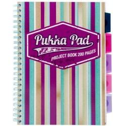 Project Book A4, 100 file 80g/mp, cu spirala dubla, coperti PP, PUKKA Americano - dictando