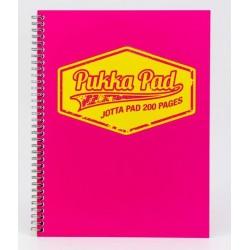 Caiet cu spirala dubla A4, 100 file 80g/mp, coperti carton, PUKKA Neon roz - matematica