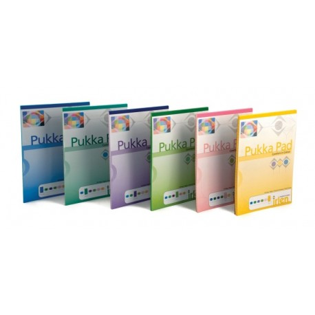 Blocnotes A4, 50 file, 80g/mp, hartie verde, coperti carton, PUKKA Colour - dictando