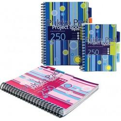 Project Book A5, 125 file 80g/mp, cu spirala dubla, coperti PP, PUKKA Stripes - matematica