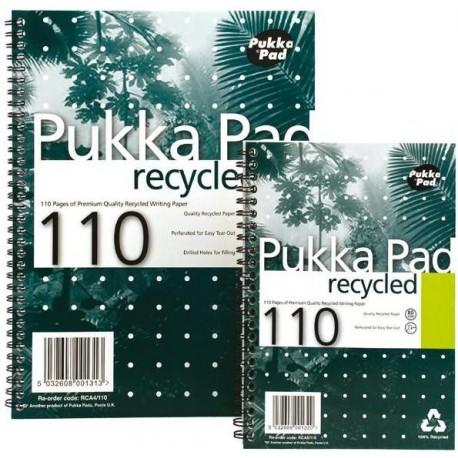 Caiet cu spirala dubla A4, 55 file 80g/mp, coperti carton, PUKKA Recycled - dictando