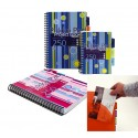 Project Book A4, 125 file 80g/mp, cu spirala dubla, coperti PP, Everyday Stripes - matematica