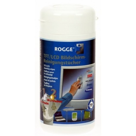 Servetele curat.TFT/LCD,100buc/tub(50umede/50uscate),ROGGE