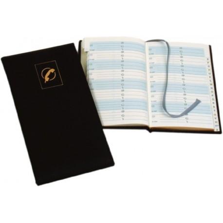 Agenda telefonica A6, 64 file, margini aurite, AURORA
