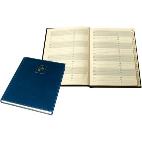 Agenda telefonica A5, 96 file, margini aurite, AURORA