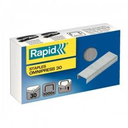 Capse Rapid, 1000 buc./cutie pentru capsator Rapid Omnipress 30 coli