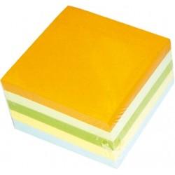 Rezerva cub hartie color 9x9x7cm, 500 coli/cub