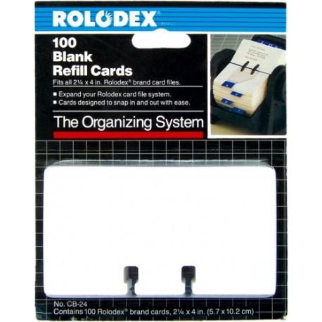Rezerva carti vizita (63x102 mm),50 buc/set ROLODEX pt.67011