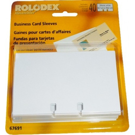 Rezerva carti vizita (63x102mm),40 buc/set pt ROLODEX